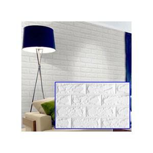 3D立體仿磚紋壁貼大尺寸6片水藍