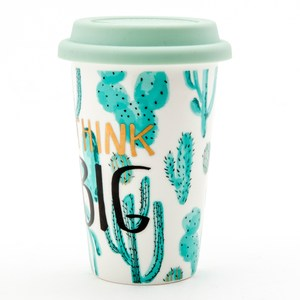 綠蔭馬克杯 附矽膠蓋 仙人掌