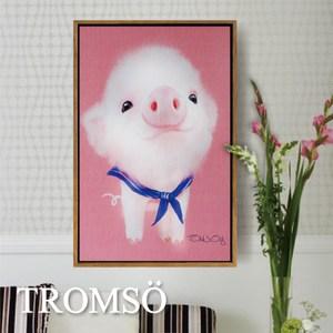 TROMSO北歐風尚板畫有框畫-萌萌小豬