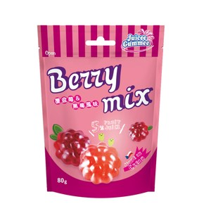 捷克 百靈 QQ軟糖 迷你覆盆莓/黑莓造型 80g