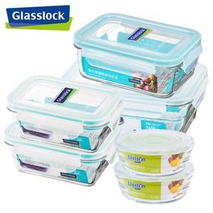 【Glasslock】強化玻璃微波保鮮盒 - 冰箱收納6件組