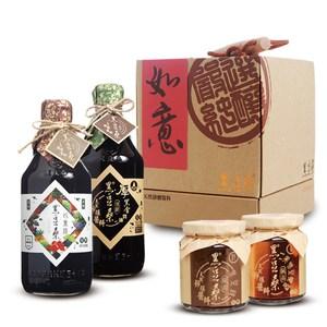 【黑豆桑】靜釀甘醇健康禮盒(厚黑金x1+豆瓣醬x1+黑豆豉x1+珍果淳