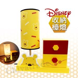 【迪士尼Disney】小熊維尼造型燈台 檯燈 小夜燈 兒童夜燈 迷你兩層抽屜
