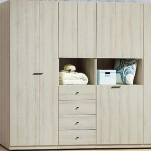【YFS】瑪莉灰橡2尺單吊四抽衣櫥-60x57x197cm
