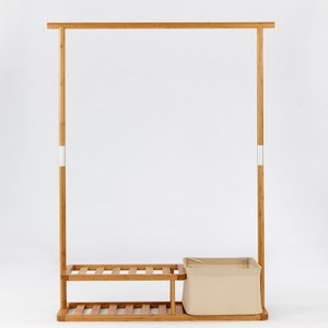 日式竹製多功能衣帽置物架