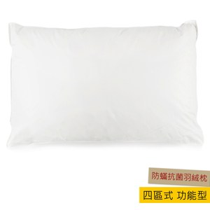 HOLA 四區式 功能型 防蟎抗菌羽絨枕 DOWN PILLOW