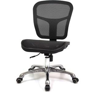 aaronation愛倫國度 高韌性全網布金屬腳辦公椅 i-RS-17黑