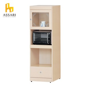 ASSARI-簡約一門1抽2尺電器櫃(寬60*深42*高182cm)白橡