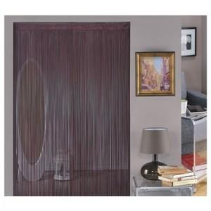 金格拉斯單色細線簾90x180cm咖啡