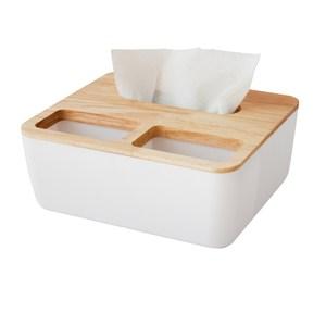 簡單木蓋3用面紙置物盒