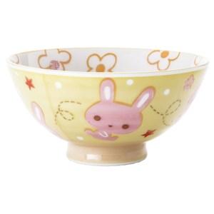 日本 兒童飯碗 可愛兔