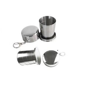【PUSH!旅遊用品】四節可折疊攜帶不鏽鋼杯(大號一入)C07