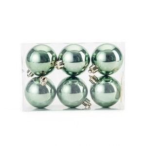 吊飾球6入組 亮面橄欖綠  6cm
