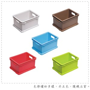 【DOLEDO】疊疊樂收納箱(S)-八入