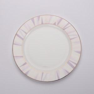 HOLA home 索菲亞玫瑰金骨瓷平盤 25cm