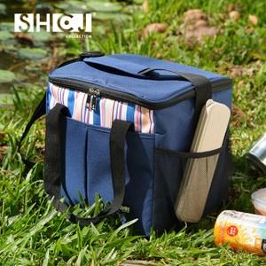 【SHCJ生活采家】戶外野營15L肩背手提方型保溫袋(大)#52003入