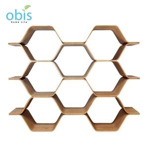 obis 生活木作蜂巢式三層書架
