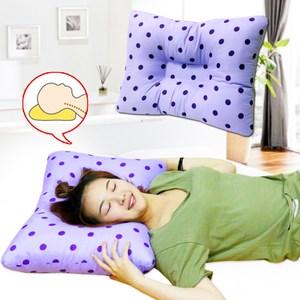 【KOTAS】靚妹A級棉工學止鼾枕(紫x1)