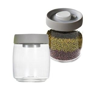 TIMEMORE 真空玻璃密封罐-800ml-灰蓋