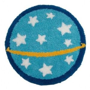 HOLA home太空任務踏墊70cm 圓形星空