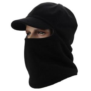 PUSH!戶外休閒用品抓絨防風帽加絨加厚黑色H28黑色
