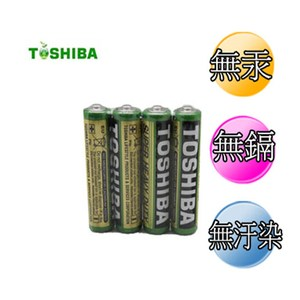 東芝 新環保高效能碳鋅電池4號 32入
