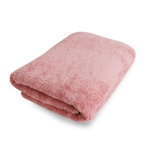 Lovel 7倍強效吸水抗菌超細纖維浴巾(蜜桃粉)