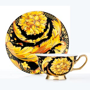 【Royal Duke】骨瓷咖啡對杯-凡賽斯(典雅英式風格)