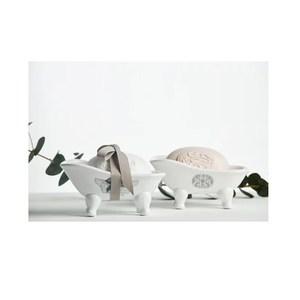 MATHILDE M.迷你貓腳浴缸皂台&洗手皂-粉色-緞帶蝴蝶