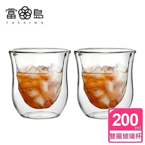 【FUSHIMA 富島】星宸系列雙層耐熱玻璃杯200ML*2入