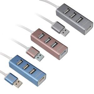 鋁合金USB 2.0集線器HB-27 混色