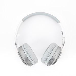 INTOPIC摺疊藍牙耳機麥克風JAZZ-979W灰白