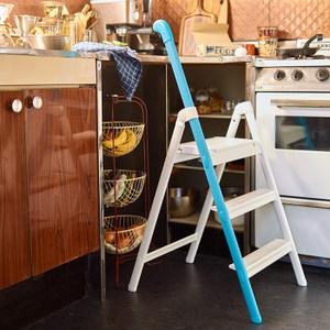 【長谷川Hasegawa】HANDLESTEP設計梯-單邊扶手(藍)