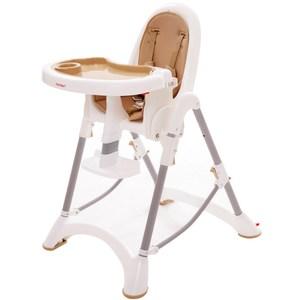 myheart 折疊式兒童安全餐椅-布朗棕