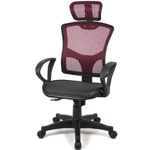 【aaronation】愛倫國度 - 步步高昇全透氣電腦網椅(23-2紅