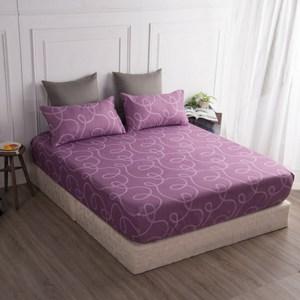 【BARNITE】幸福環繞棉感絨三件式床包組(雙人)