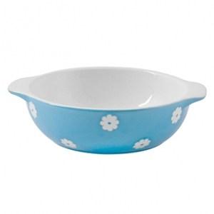 可愛小花藍色圓形烤皿14.5cm