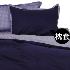 HOLA home雷諾瓦素色拼接枕套2入 藍色
