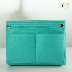 【佶之屋】韓版毛氈加厚手提收納包中袋-基本款(綠色)