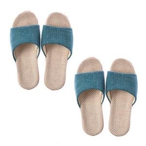 (組)居家平面輕便拖鞋-綠L x2