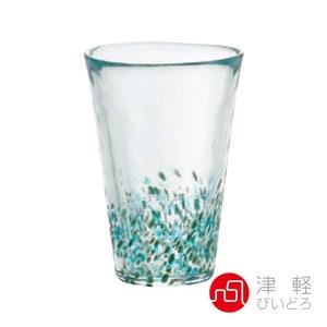 日本ADERIA津輕 手作粉彩玻璃飲料杯300ml-綠