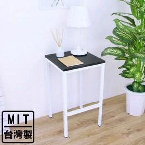 【頂堅】木製桌面(鋼管腳)角落邊桌/置物架/盆栽架/玄關桌-四色可選黑色