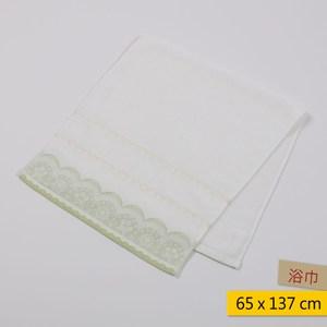 粉彩蕾絲浴巾 65x137cm-綠色