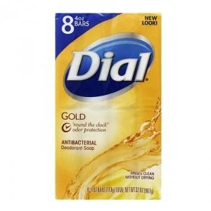 美國Dial黛雅香皂---經典黃金皂---白茶花萃取&維他命E(4oz.*8/組)