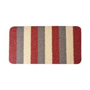 硬絨刮泥防滑地墊47x77cm 條紋紅