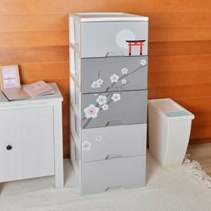 昭和櫻五層收納置物櫃(單層26L)-DIY-灰色