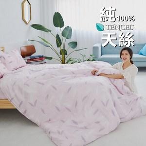 【BUHO】100%TENCEL純天絲舖棉兩用被床包組-雙人加大(微風徐來)