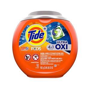 Tide汰漬洗衣凝膠球-4in1活氧配方(952g/32顆)*4/箱購