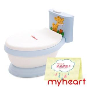 myheart 台灣製造 專利音樂兒童馬桶-王子藍