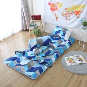 超細纖維日式床墊五件組-單人(混款)